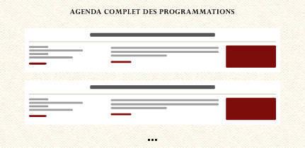 agenda renaissance liens dates
