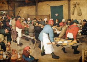 Banquet Renaissance Illustration Bruegel