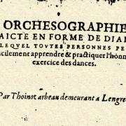 Danse Renaissance Orchésographie
