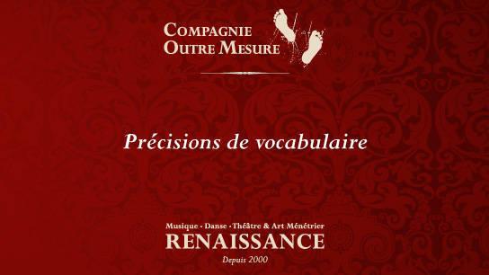 musique et danse renaissance précisions de vocabulaire
