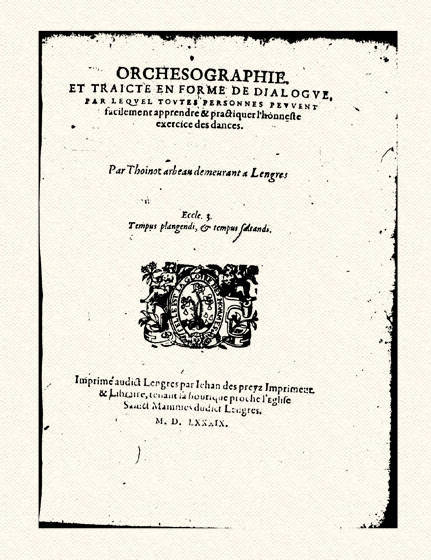 orchésographie 1589 Thoinot arbeau