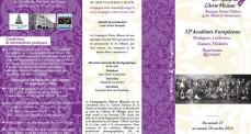 Stage Renaissance 12ème Académie Européenne dépliant recto