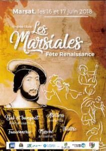 Fête des Marsiales Marsat 16 et 17 juin 2018 - bal et banquet, ateliers, fauconnerie...