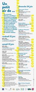 Programme des Rendez du Bois Chevalier Programme du 22 au 24 juin 2018