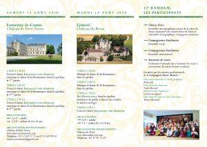 Programme des 12ème RAMDAM (Rencontres d'Amateurs de Musique, de Danse et d'Arts Ménétriers) int